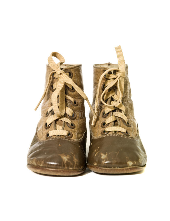 Petites chaussures de cru photo libre de droits