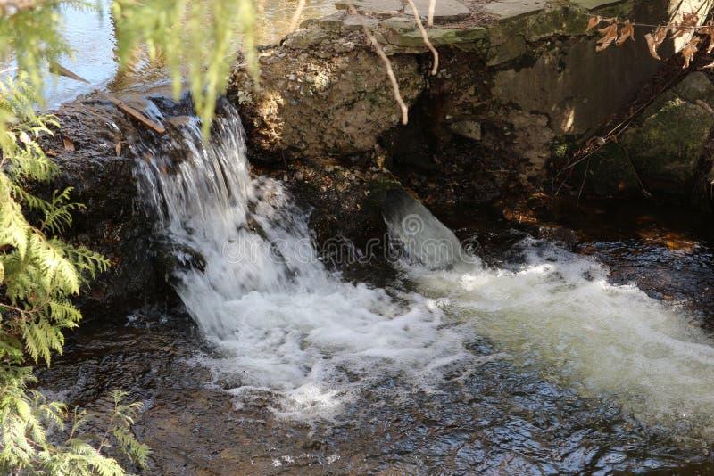 Petites chutes en parc image stock