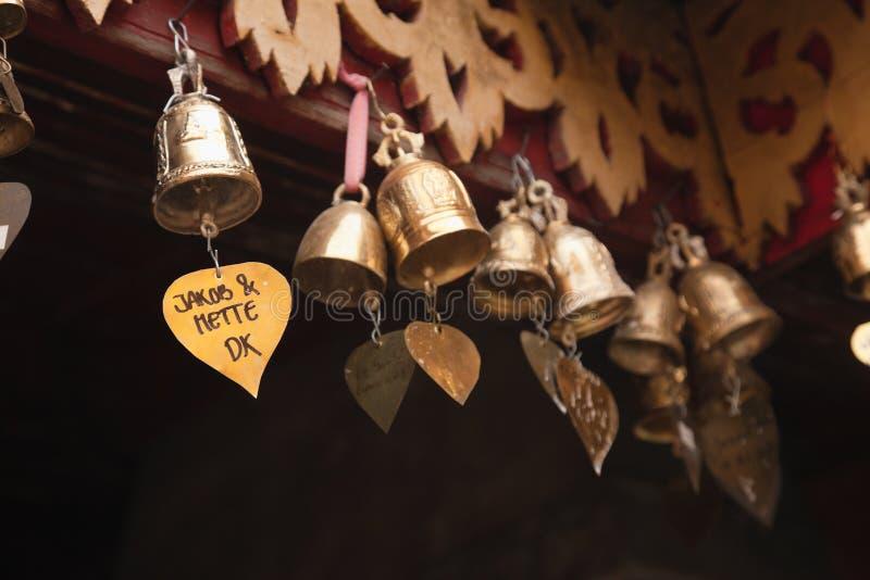 Petites cloches de prière photographie stock