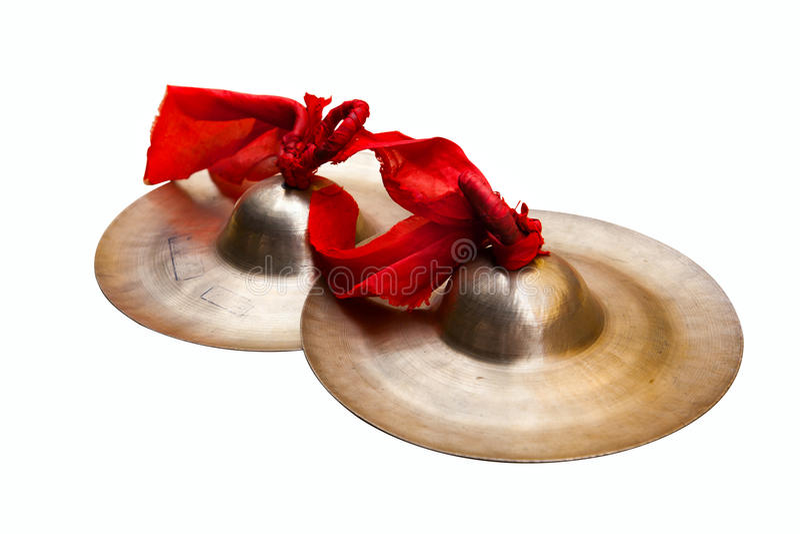 Petites cymbales de la Chine photos stock
