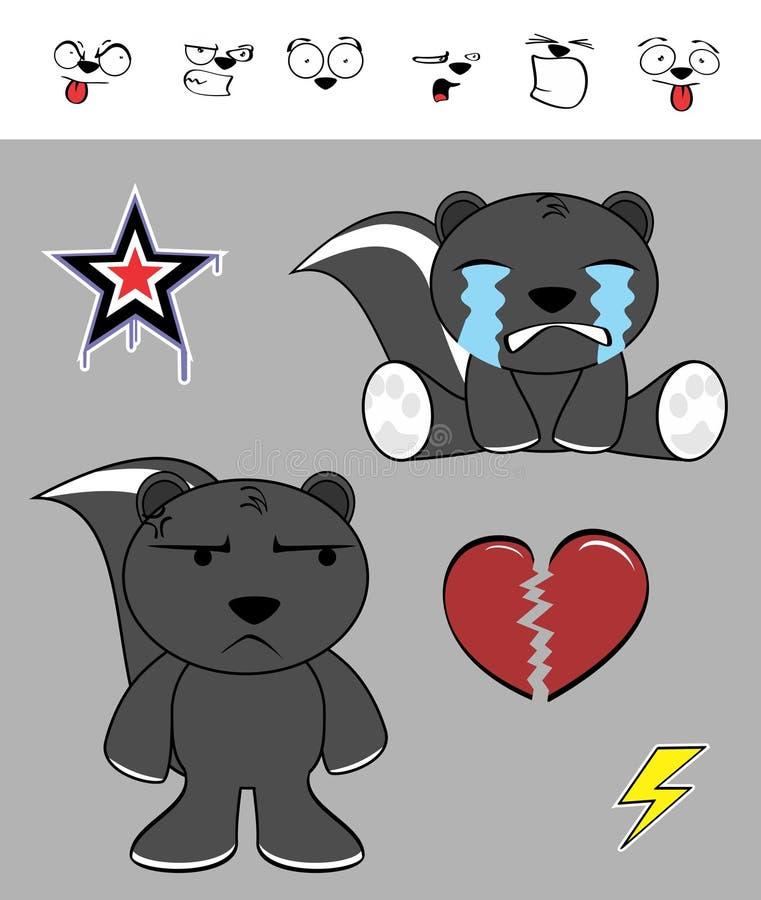 Download Petites Expressions Mignonnes De Bande Dessinée De Mouffette Réglées Illustration de Vecteur - Illustration du isolement, heureux: 77161462