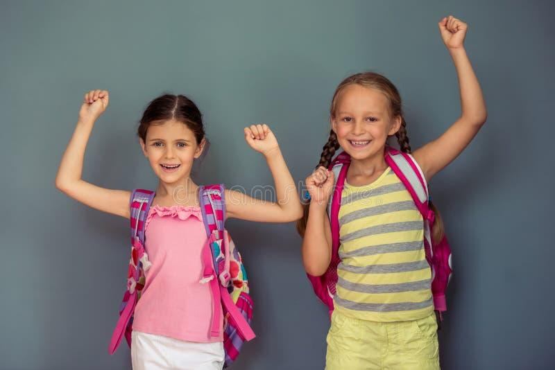 Petites filles avec du charme image libre de droits