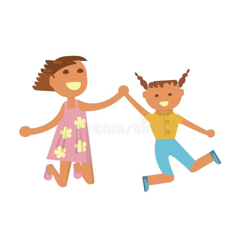 Petites filles heureuses illustration stock