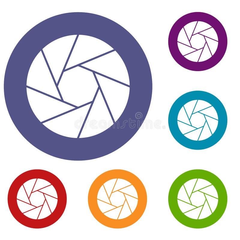 Petites icônes objectives réglées illustration libre de droits