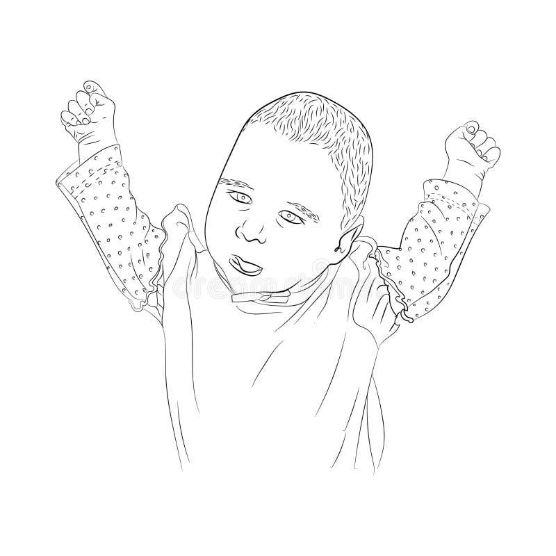 petites mains très mignonnes de petite fille  Chéri mignonne illustration stock