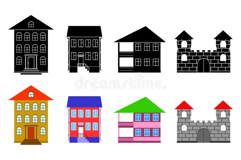 Petites maisons. illustration de vecteur
