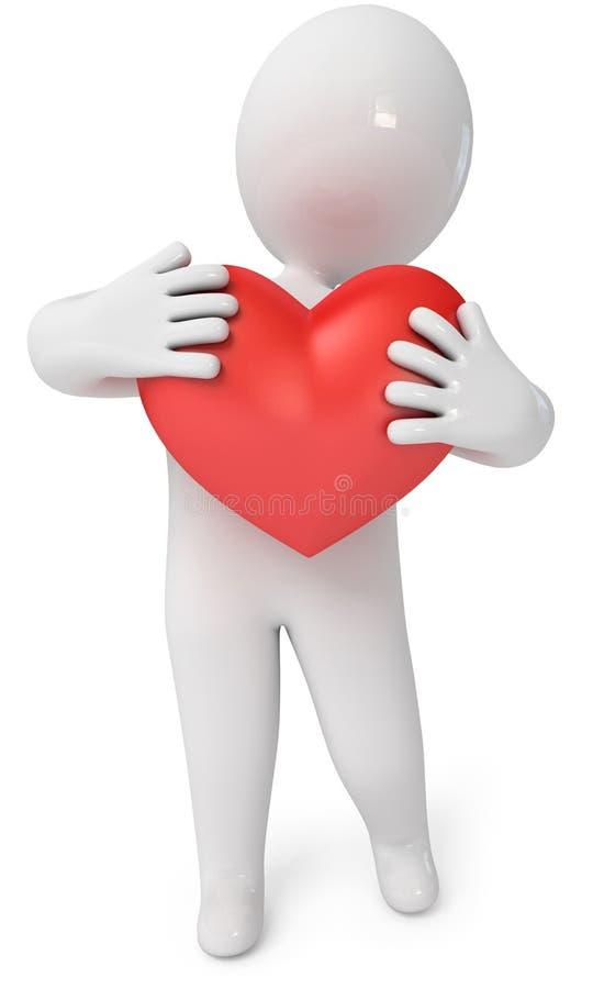 Petites personnes avec un coeur illustration stock