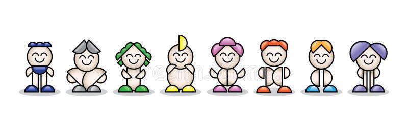 petites personnes 3d colorées illustration stock