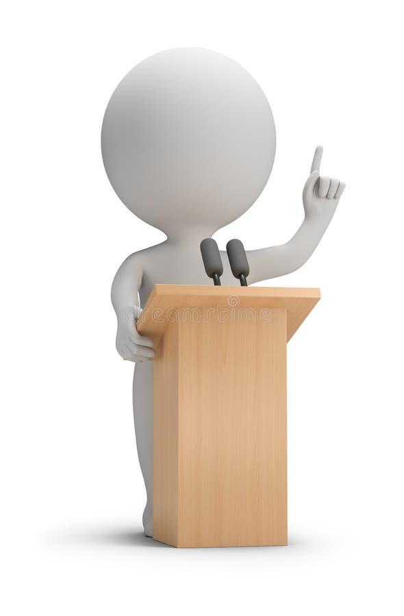 petites personnes 3d - parlant illustration libre de droits
