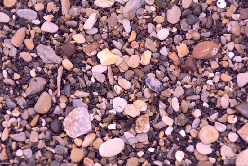 Petites pierres de mer ou de rivière image libre de droits
