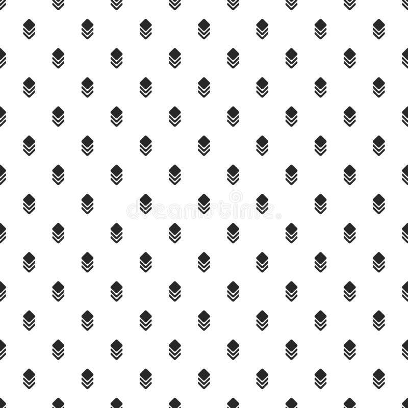 Petites places faisantes le coin rondes et lignes noires modèle moderne sur le blanc illustration libre de droits
