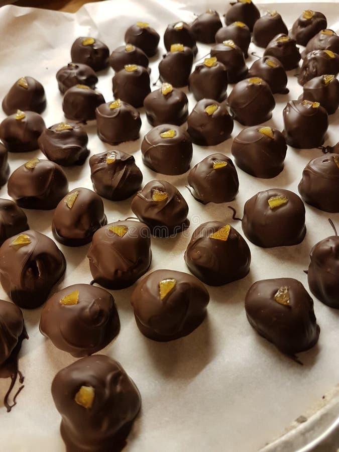 petites truffes oranges douces photo libre de droits