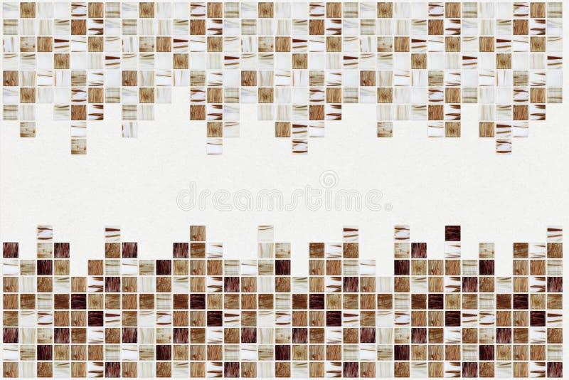 Petites tuiles décoratives colorées, mosaïque photo stock