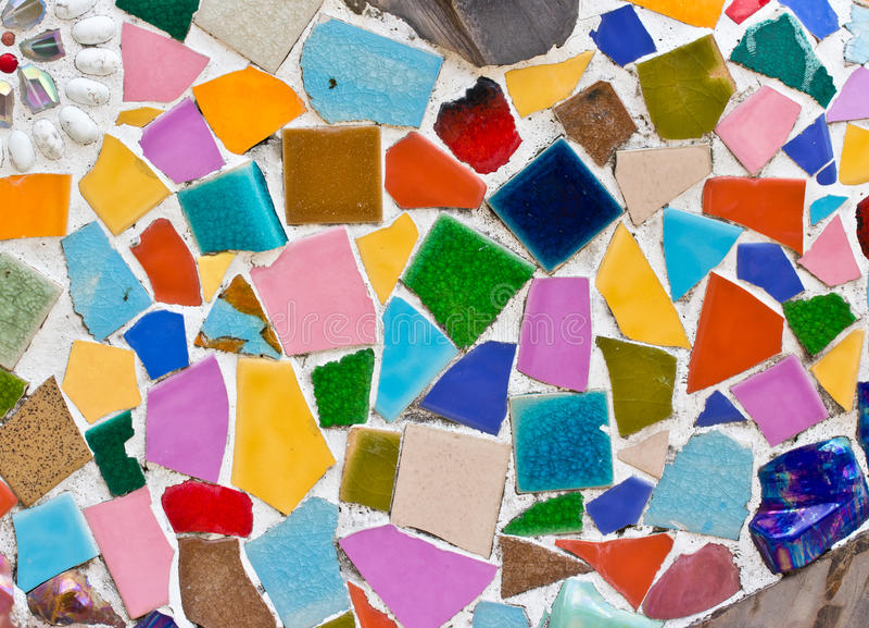 Petites tuiles multicolores images libres de droits