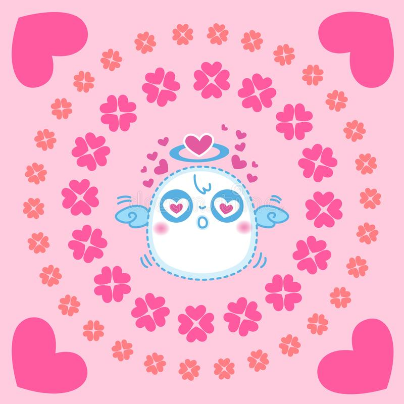 Petits anges mignons, illustration de vecteur illustration stock