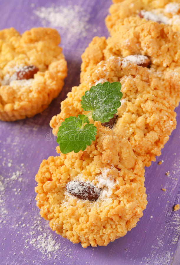 Petits biscuits d'amande images stock