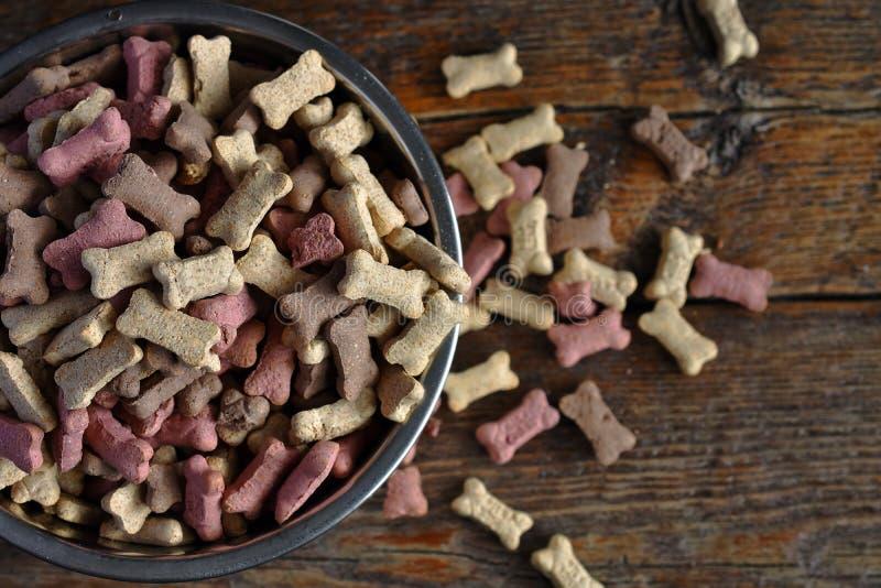 Petits biscuits de festin de chien photographie stock libre de droits