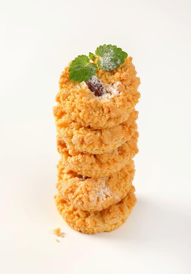 Petits biscuits de miette d'amande photos libres de droits