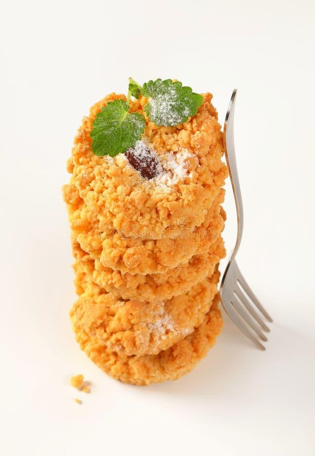 Petits biscuits de miette d'amande images stock
