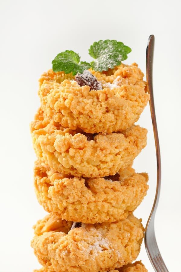 Petits biscuits de miette d'amande photo stock