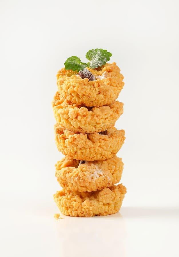 Petits biscuits de miette d'amande photographie stock libre de droits