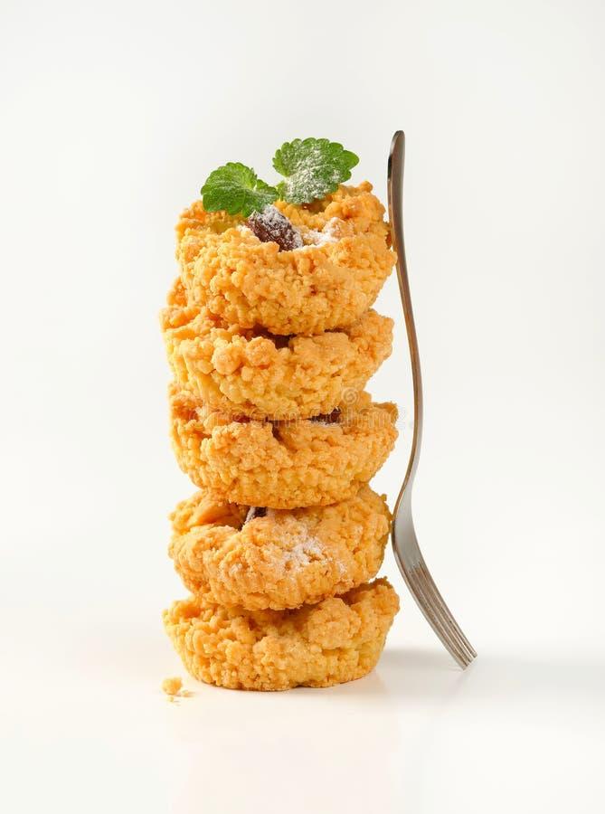 Petits biscuits de miette d'amande photographie stock