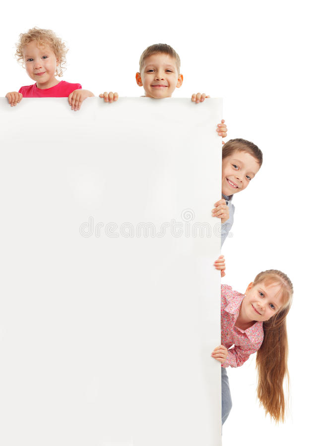 Petits enfants avec le blanc photos stock