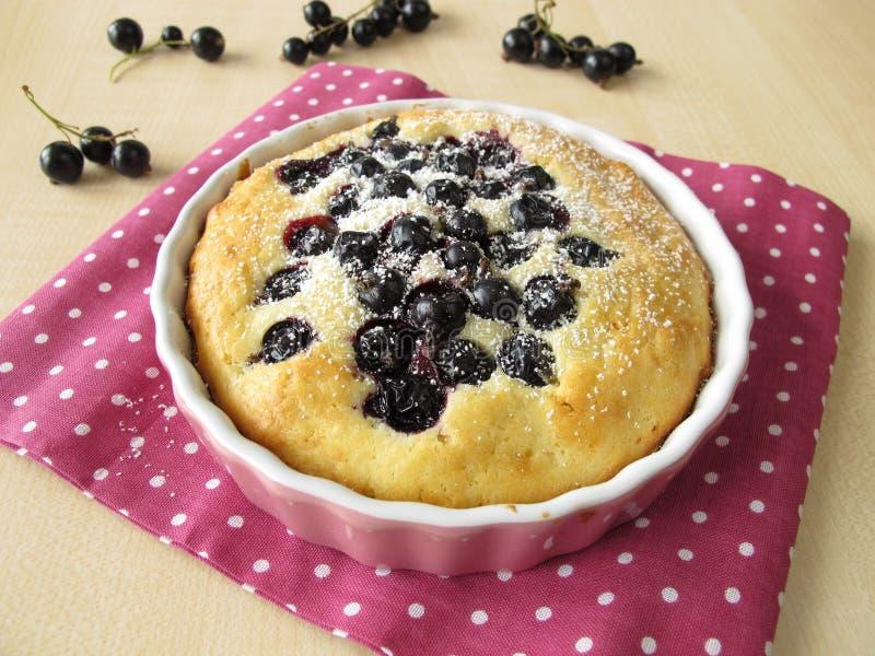 Petits gâteaux avec les cassis et le sucre en poudre image stock