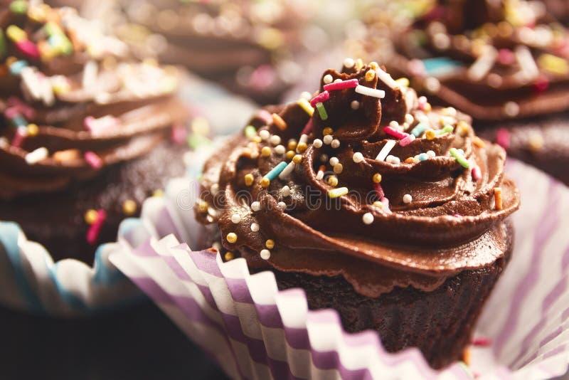 Petits gâteaux de chocolat images libres de droits