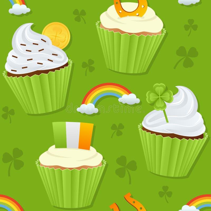 Petits gâteaux de jour de St Patrick s sans couture illustration stock