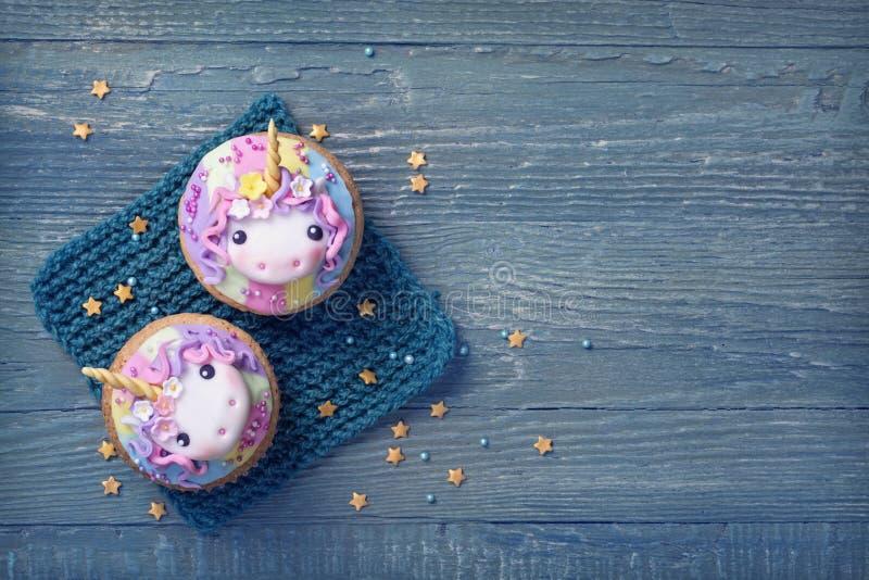 Petits gâteaux de licorne photo libre de droits
