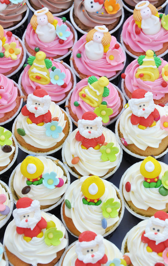 Petits gâteaux de Noël. images stock