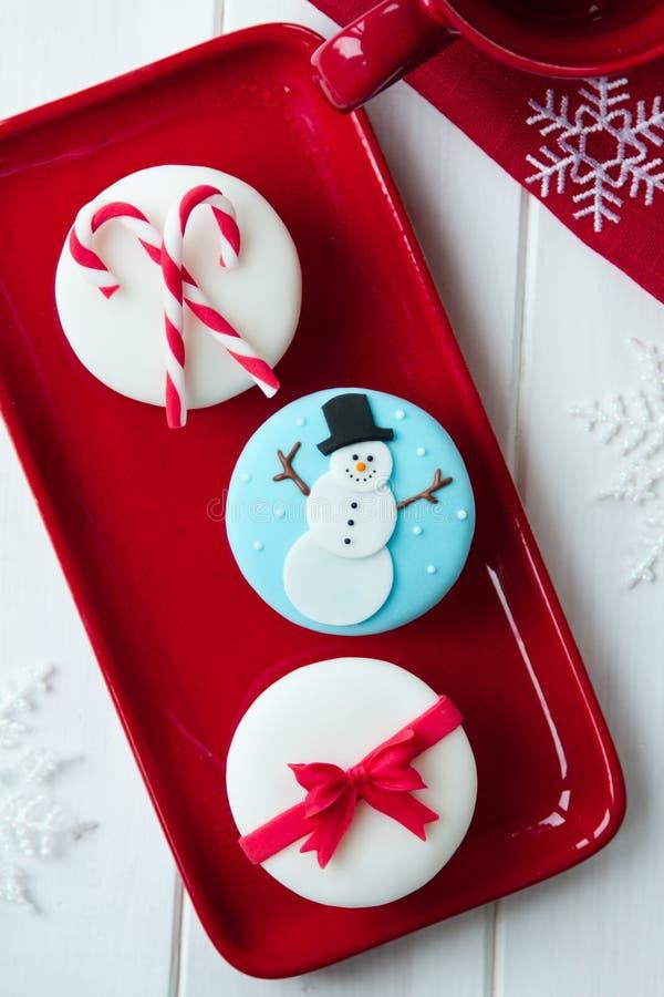 Petits gâteaux de Noël images libres de droits