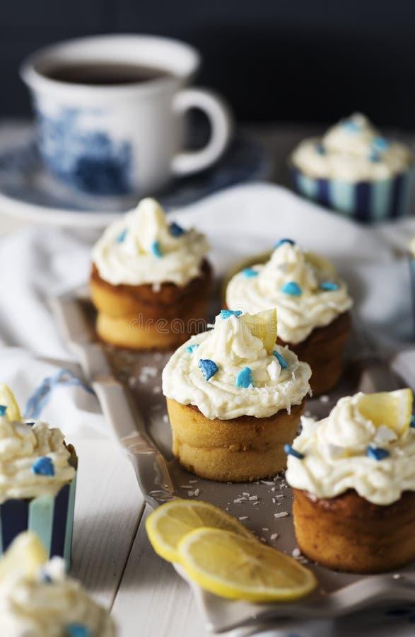 Petits gâteaux de Ricotta de citron images libres de droits
