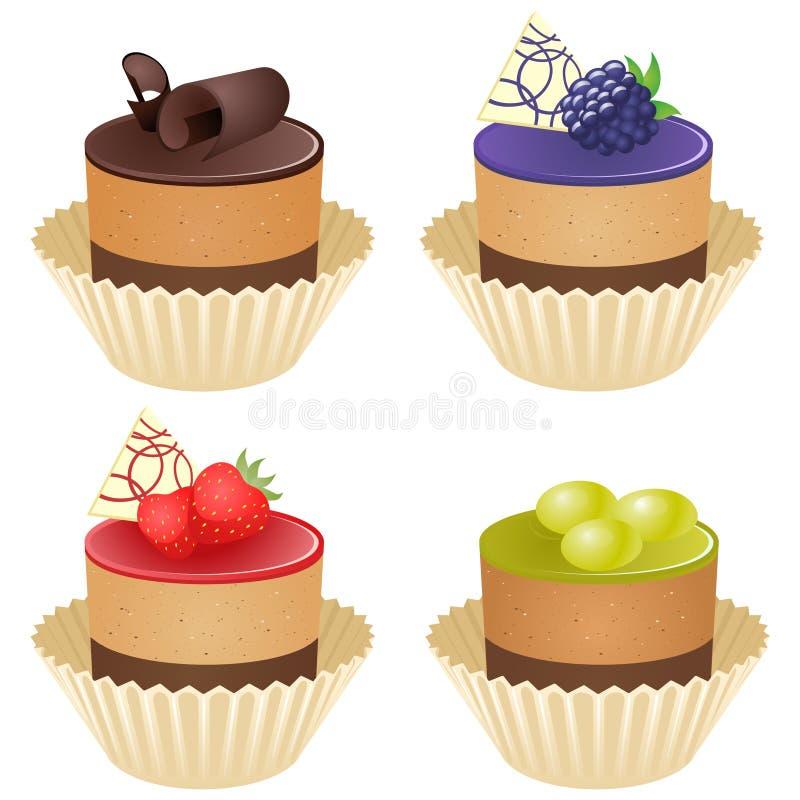 Petits gâteaux de vecteur illustration de vecteur