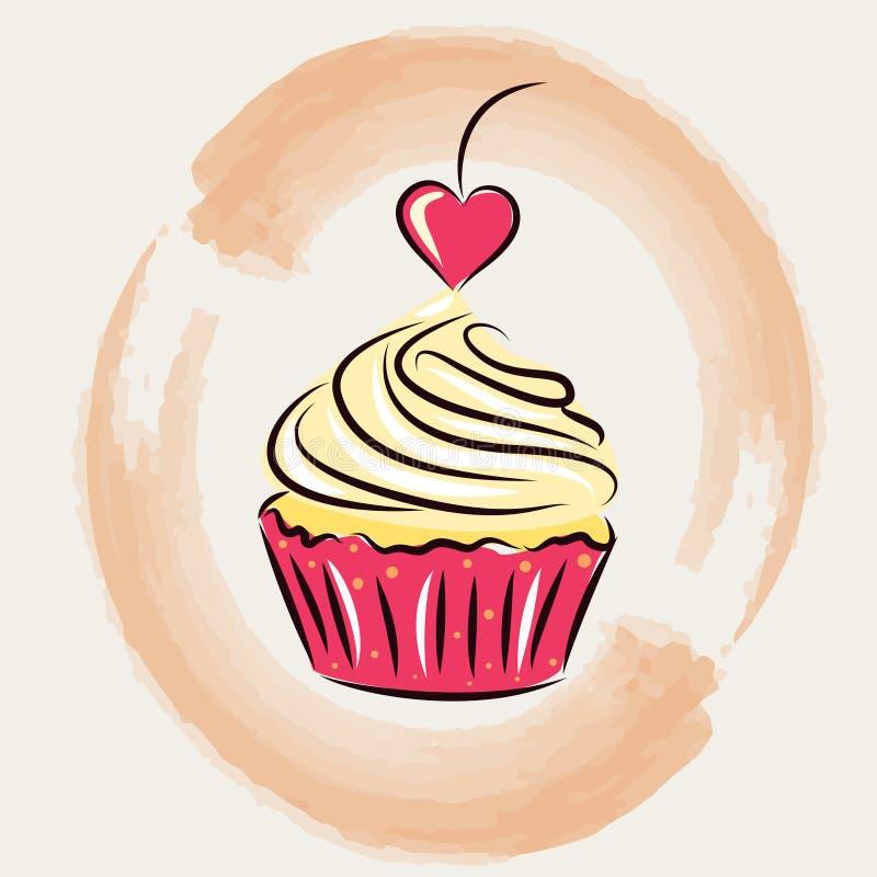 Petits gâteaux doux St Jour de Valentines illustration de vecteur