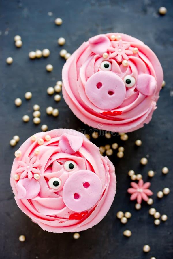 Petits gâteaux porcins de Mlle photos libres de droits