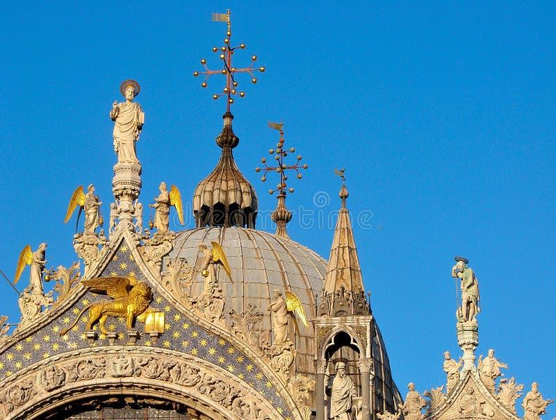 Petits groupes de San Marco de basilique de Venise Italie photos stock