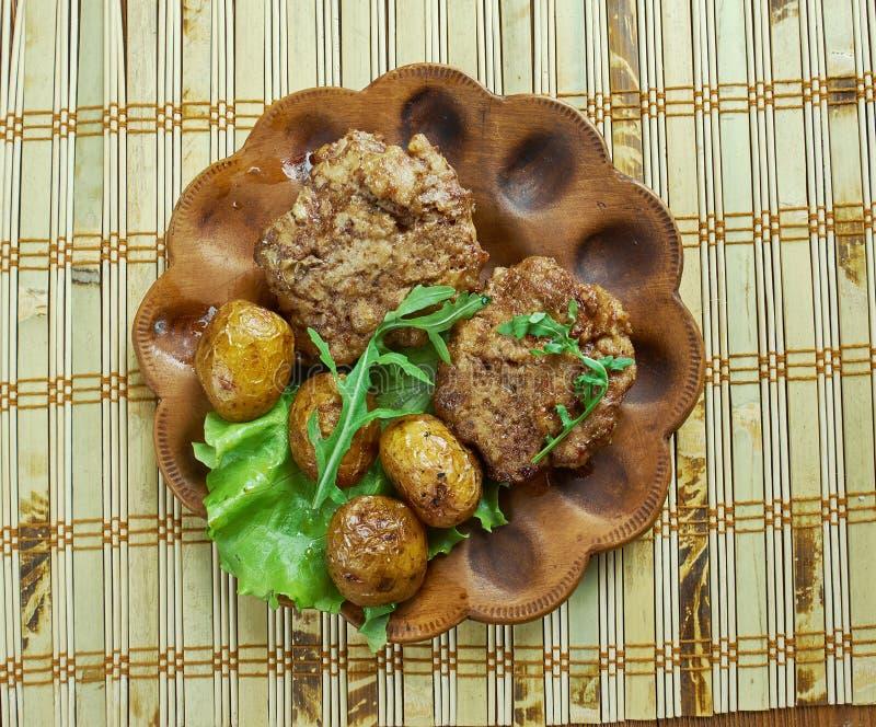 Petits pâtés allemands de viande image libre de droits