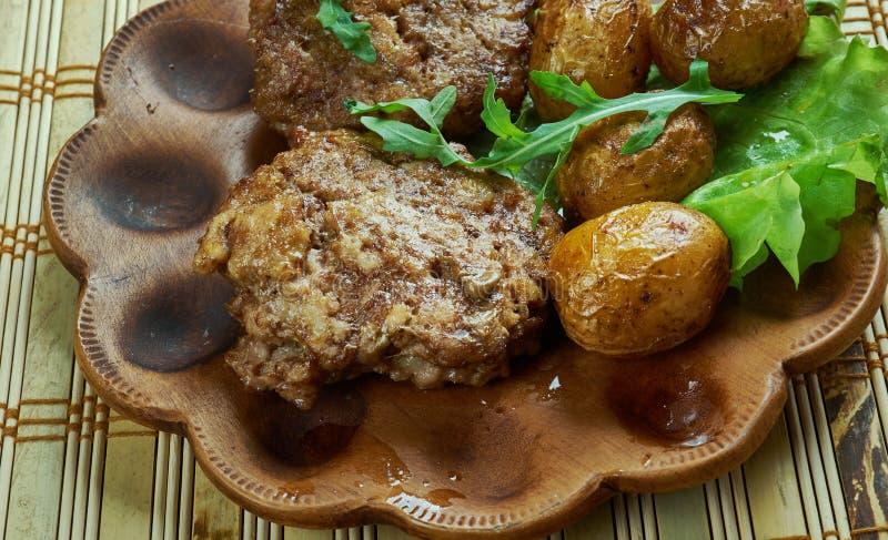 Petits pâtés allemands de viande photo libre de droits