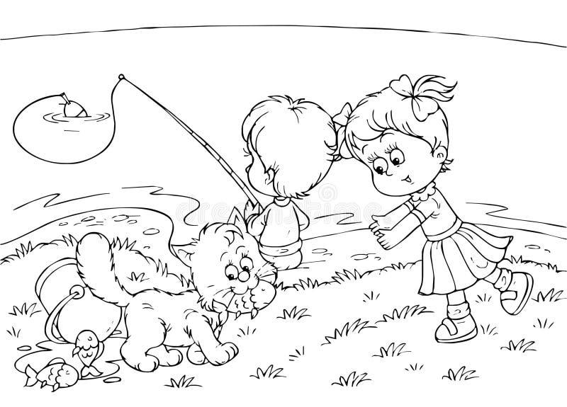 Petits pêcheurs illustration stock