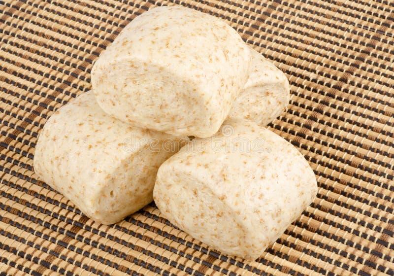 Petits pains cuits à la vapeur par blé entier chinois #1 images libres de droits