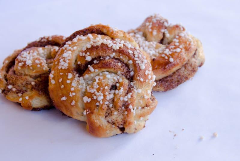 Petits pains de cannelle photo stock