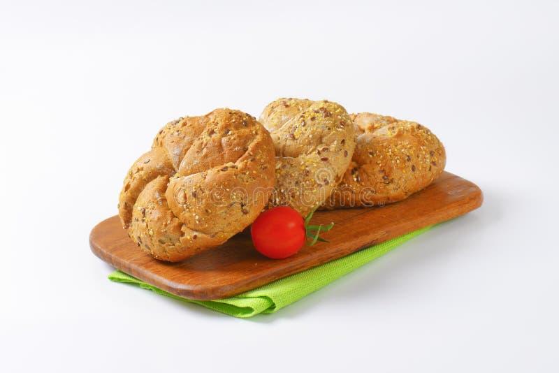 Petits pains de Kaiser frais photo stock