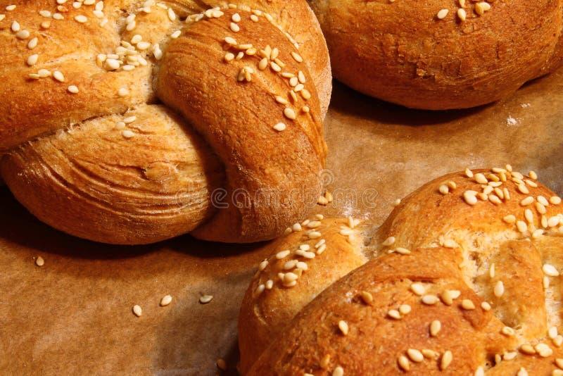 Petits pains de Kaiser - pâtisserie fraîche - petits pains frais photos libres de droits
