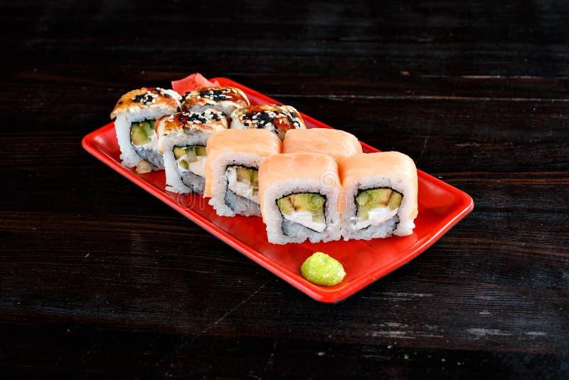 Petits pains de sushi réglés image libre de droits