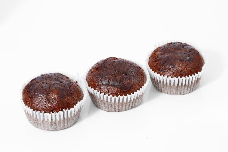 Petits pains, petits gâteaux de chocolat, d'isolement image stock