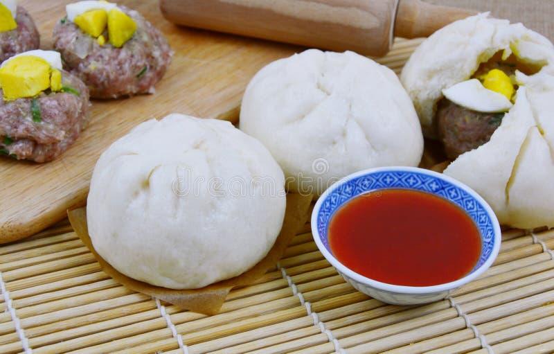 Petits pains thaïlandais de porc de style photographie stock libre de droits