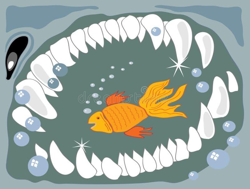 Petits poissons de grands poissons illustration libre de droits
