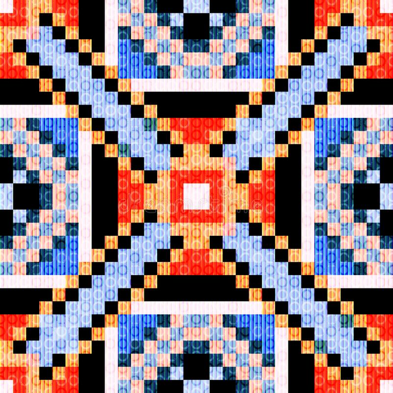 Petits polygones de pixels et fond g?om?trique abstrait de cercle illustration libre de droits
